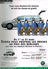 Publicité advertising 2000 Skoda Octavia Combi GLX