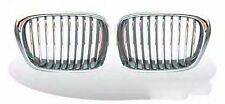 BMW E39 97-03 FRONT KIDNEY GRILLE GRILLS Chrome & Silver
