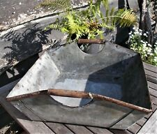 Vintage large square zinc tub,fish basket,French ,old, reclaimed,garden planter