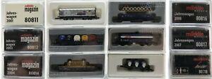 MARKLIN Z SCALE 80811-812-814-816-817-818  6 COLLECTOR Freight Cars ORIG BoxesC9
