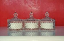 x3 HIGHLY SCENTED CRYSTAL CANDLE SET