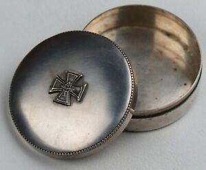 ww2 GERMAN Box IRON Cross WWII Award 1939 Sterling SILVER 800 Germany JEWELRY