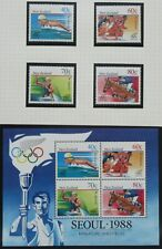 NEW ZEALAND stamps – 1988 Health – Olympic Games set MNH  (4+MS)