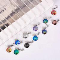 Fashion Chain Jewelry Women Necklace Mermaid Fish Scale Pendant Rainbow Random