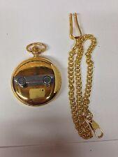 Saab Sonette 1 ref225 Pewter Effect Car on a polished Gold Case Pocket Watch