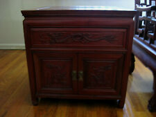 New listing Rosewood Hand carved Bed Side Cabinet/night Stand