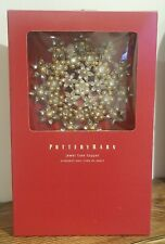 NEW Pottery Barn Jewel Pearl Tree Topper Gold Christmas Holiday Ornament Boxed