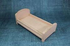 Vtg Antique DollHouse Miniature Strombecker Wood Furniture Bedroom Pink Bed