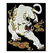 Japanese MAKIE seal Sticker Made in JAPAN Byakko White Tiger 40 x 50mm