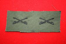 VIETNAM PERIOD CLOTH U.S. ARMY CAVALRY OFFICERS COLLAR INSIGNIA SUBDUED CAV