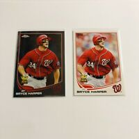 Bryce Harper 2013 Topps Chrome & Paper Lot Of 2 Cards #220 and #1 Rookie Cup