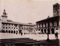 Bologna Place Maggiore Foto Roberto Peli Italia Vintage Albumina Ca 1880