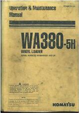 Komatsu Wheel Loader WA380-5H Operators Manual