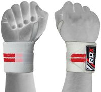 RDX Wrist Weight Lifting Training Gym Straps Support Grip Gloves Body Building T