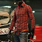 Classique Chemise Homme Moulant tailles S-XL coupe étroite à carreaux tee-shirt