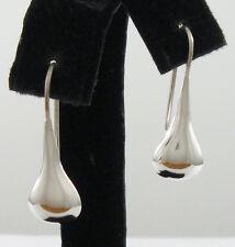 """925 sterling silver small teardrop earrings 1"""" high"""