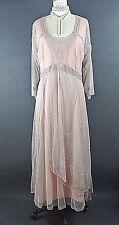 Downton Abbey Dress Nataya SALE Pink Gray Lace Victorian Formal Plus Size M NWT