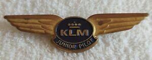 VINTAGE KLM DUTCH AIRLINES METAL WINGS JUNIOR PILOT PIN BADGE