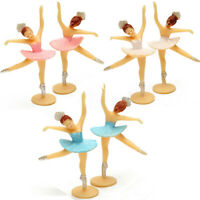 12/24pcs Ballet Dancing girl Vintage plastic Ballerina Figures Cake Party Decor