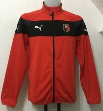 STADE RENNAIS  RED STADIUM JACKET BY PUMA SIZE ADULTS MEDIUM BRAND NEW WITH TAG
