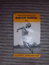 Burton Albion football programme
