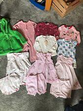 Baby Girl 6-9-12Mth Bundle Romper Dresses Bloomers Tops Fleece Coat Jacket Next