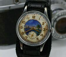 2Q-1957 Soviet mechanical watch Raketa Kama PCHZ Military USSR 17J USSR Painted