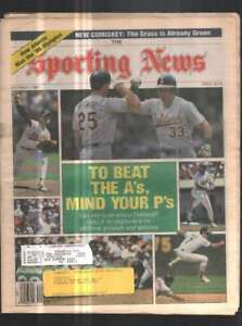 The Sporting News Newspaper Oct 1, 1990 To Beat the A's, Mind Your P's