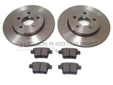 FOR JAGUAR X TYPE ALL MODELS 2005-2009 REAR 2 BRAKE DISCS AND PADS SET NEW