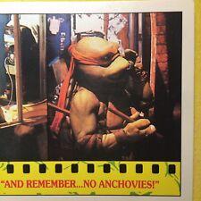 """Teenage Mutant Ninja Turtle REGINA (1988) Card 18 """"And Remember...No Anchovies!"""""""