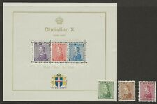 Iceland 1937 Silver Jubilee set of 3 and miniature sheet very lightly MH