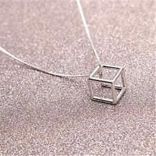 KPOP EXO Sing For You XIUMIN ParkChanYeo BaekHyun Square Metal Necklace FanGoods