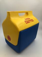 VTG Igloo Little Playmate Cooler 1988 Blue/Yellow Plastic VG lunch box
