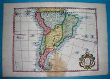 1748 NICE ORIGINAL MAP PATAGONIA ARGENTINA CHILE PERU BOLIVIA BUENOS AIRES LIMA