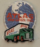 ATLAS VAN LINES EMBROIDERED SEW ON PATCH TRUCK MOVING ADVERTISING 2 1/2 x 3 1/4