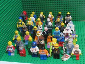 Lot 45 Lego minifigures Series star wars city town ninjago space Batman Chima NR