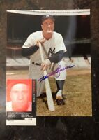 HANK BAUER AUTOGRAPHED SIGNED AUTO BASEBALL PHOTO 8x10 YANKEES
