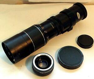 Access SQ 300mm f/5.6 Prime Camera Lens Fits M42 Mount, Ensinor Tele Converter