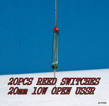 20PCS MAGNETIC REED SWITCHES 20mm 10W KEM-2A RUTENIUM PLATED OPEN USSR  MILITARY