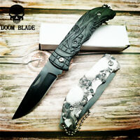 Mini Folding Pocket Knife Survival Tactical Multi Functional Stainless Steel EDC
