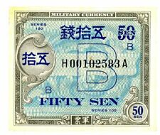 Japan … P-65 … 50 Sen … Serie 100(1945) .* Vf+ * Replacement H.