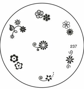 MoYou Nails Image Plate 237 Nail Art Stamping Template  Manicure Stencil Plates