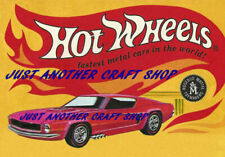 Hot Wheels Redline Ford Mustang 1968 A4 Poster Advert Shop Display Sign Leaflet