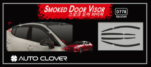 Smoke Weather Shield for 18-21 KIA Stinger 200S 200Si GT-Line 330S 330Si GT 3.3L