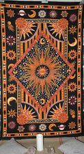 Psychedelic India Tapestry Sun Star Celestial Wall Hanging Twin Bohemain SB23 F