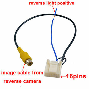 Video Harness for Toyota OEM Stereo to Reverse camera Hiace Camry Prado 12-13