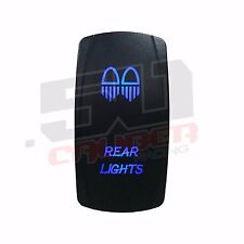 Illuminated Rocker Switch Rear Lights UTV RZR Teryx Maverick X3 YXZ1000R Blue