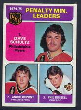 1975-76 Topps Hockey #211 Penalty Minutes Leaders