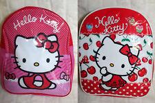 Hello Kitty Rucksack Kindergartentasche Kleinkinder Tasche pink oder rot