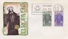 España 1965 Europa CEPT FDC unadressed en muy buena condición